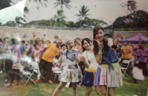 Risako, Maasa, Yurana and I in Hawaii During the Live