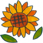 Sunflower - A Drawing by Chinami